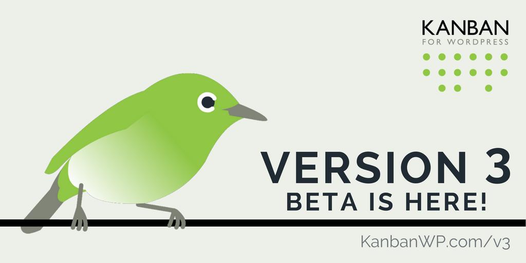 v3 BETA release banner Tw